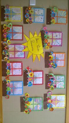 primavera- janelas floridas Kids Crafts, Family Crafts, Diy And Crafts, Autumn Crafts, Spring Crafts, Arte Elemental, Summer Art Projects, Diy Y Manualidades, Classroom Art Projects