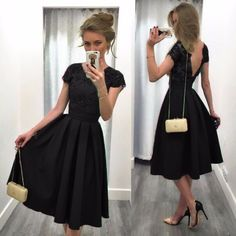 Splicing Solid Color Backless Short Sleeves Dress