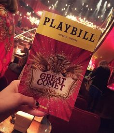 Tonight!!❤️favorite show I've seen all year. Wow. ❤️@greatcometbway @reedluplau @palomagarcialee #fitforbroadway #broadway #bway #musicaltheatre #playbill