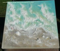 The Tide 20x20x1/15 Abstract Original Mixed door TerraArtGallery, $140,00