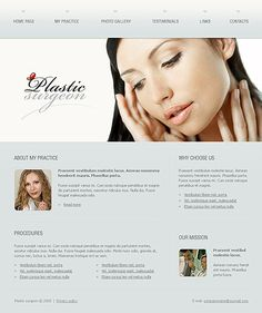 Plastic Surgery Website Templates by Delta