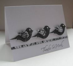 Thank you card - Kind & Caring Thoughts  Thanks So Much by Nancy Littrell