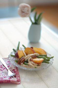 Salade de poulet aux pêches by #AboutFoood  #SucréSalé