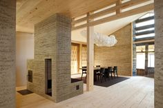 Conversion of Stable into rammed Earth Residence in Almens, Switzerland by Architect Martin Rauch