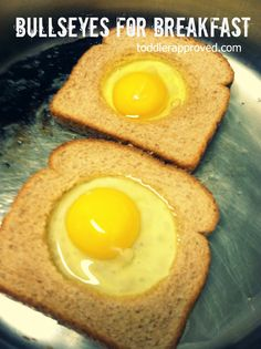 Toddler Approved!: Cooking With Mom: Bullseyes for Breakfast. What's a breakfast dish your kids like to help you make?