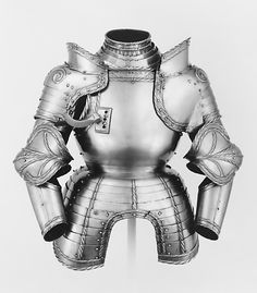 Portions of a Field Armor Date: dated 1524 Culture: German, probably Augsburg Medium: Etched steel, brass, leather