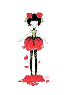 "Saatchi Online Artist: Indrė Bankauskaitė; Painting 2013 New Media ""Rose"""