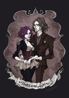 Tonks and Lupin by IrenHorrors on @DeviantArt