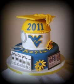 WVU Graduation Cake