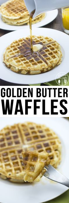 KEEPER -- Golden Butter Waffles - These are the perfect waffles, crispy on the edges soft in the middle. So great for breakfast, brunch or brinner.
