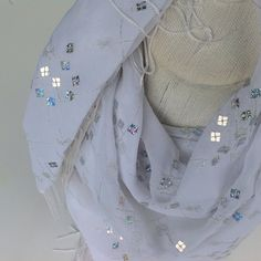 Large Bridal silky square shawl, iridescent scarf, Shimmer fabric scarf, Fringe scarf, White sparkle accessories, Fashion fabric scarf by blingscarves. Explore more products on http://blingscarves.etsy.com