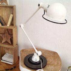 Lampe Jielde vintage 2 bras crème