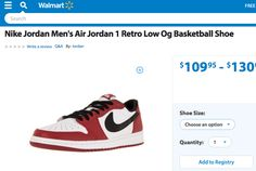 Air Jordans are on sale at Wal-Mart.