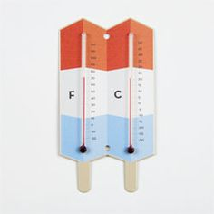 Rainbow Popsicle Thermometer by Whigby Steel with powder coated finish