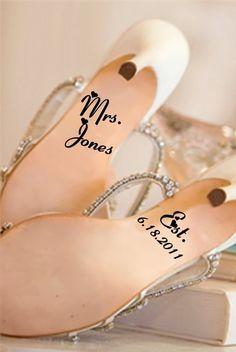 Adorable Idea for Wedding Shoes.
