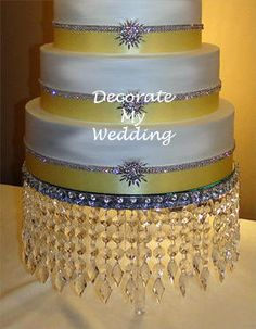 Decorate My Wedding Crystal Cake Stands Diamond Diva Made With Wilton Divider Set And