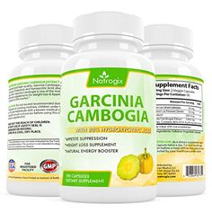 Natrogix 100 Pure Natural Garcinia Cambogia with 80 HCA Hydroxycitric Acid Complex All Natural Appetite Suppressant Weight Loss Supplement Formula >>> Be sure to check out this awesome product.