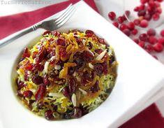 Turmeric & Saffron: Saffron Rice with Cranberries