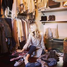 Every girls dream closet! Shop the latest look book to fill your closet #VanityStyle #spring #closet #dreamcloset #happy #dream #springclothes #shoes #simple  #lookbook
