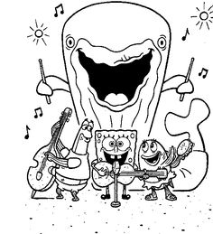Spongebob Printable Coloring Pages