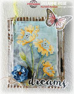 Susanne Rose - Papierkleckse: Dreams - Stencil Sunday
