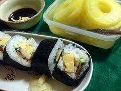 2014.6.26 手巻き寿司 食後のデザート、パイナップル
