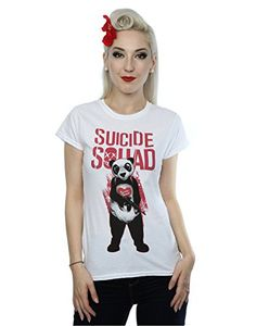 Suicide Squad mujer Joker Panda Camiseta Small Blanco #regalo #arte #geek #camiseta