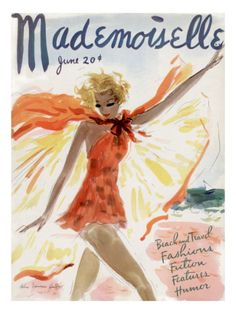 Mademoiselle Cover - June 1936 by Helen Jameson Hall