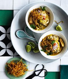 This soup's combination of spices, chicken and crispy noodles is sure to pack a punch.