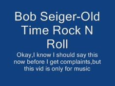 Bob Seger Old Time Rock n Roll. So when I was in university back in the dark ages, my roommate was from Windsor, which is across the river from DETROIT. She turned me onto Bob. We used to get so blasted and dance until we had no sweat left in our bodies. A good memory.