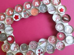 Alabama University Bottle Cap Picture Frame by PictureCaps on Etsy, $19.99