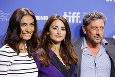 """@saadetisilaksoy  Saadet Aksoy, Penelope Cruz and director Sergio Castellitto attend the """"Twice Born"""" Photo Call during the 2012 Toronto International Film Festival at TIFF Bell Lightbox on September 13, 2012 in Toronto, Canada"""