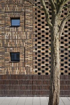 Modern mosque architecture in Amsterdam. Masterful use of brick to add depth and intrigue to the facade Brick Art, Brick Tiles, Stone Facade, Brick Facade, Stone Cladding, Brick Design, Facade Design, Brick Projects, Brick Works