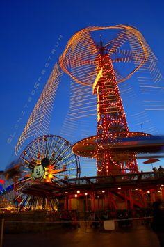 Golden Zephyr ride at Disneyland California Adventures, in Anaheim, CA.    by Colin Merritt (Limited Spectrum)