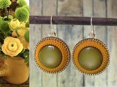 Vintage style earrings Round Dangle Earrings by @Sigalit Alcalai