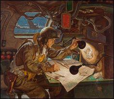 Illustration :: Golden Age Illustrators :: The Art of Dean Cornwell Military Art, Military History, American Illustration, Illustration Art, Dean Cornwell, Nose Art, Aviation Art, Norman Rockwell, Dieselpunk
