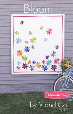 I have been in love with this quilt FOREVER!!! V & Co�s Bloom Quilt Pattern  V & Co. Patterns #FQSGiftGuide #StockingStuffer