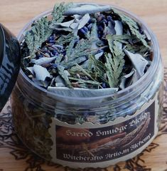 SACRED SMUDGE Blend w/ White Sage, Sweetgrass, Cedar Tips, Garden Sage and Lavender Buds for Clearing & Cleansing Your Sacred Space or Home by ArtisanWitchcrafts, $12.95