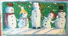 snowmen in a row pattern