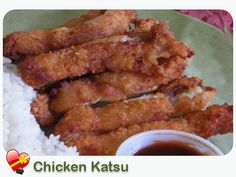 Crispy Chicken Katsu with Dipping Sauce  A delicious local Japanese favorite, for a little heat add some red chili pepper flakes to sauce. E...