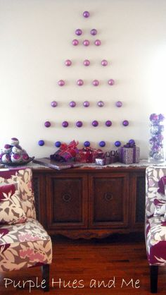 Purple Hues and Me: Ornament Wall Tree