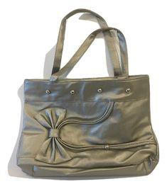9eca63211a Fashion Design Silver Tote Bag With Bow FREE SHIPPING ON THIS ITEM BRAND  NEW WITH TAG
