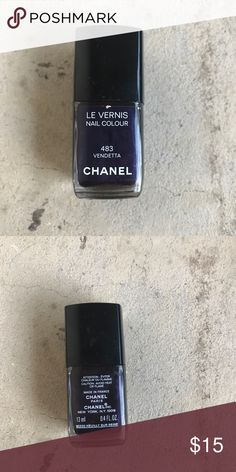 Chanel nail polish Chanel vendetta nail polish barely used CHANEL Makeup