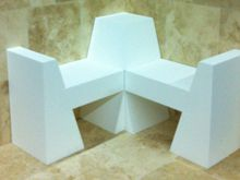 White Matter shower bench, in the nude.