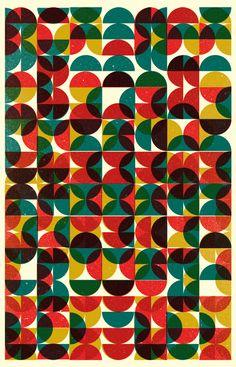 retro geometric : circles : by Skinny Ships