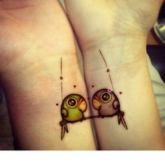 Getting inked together is one of the best bonding experiences people can have. We've already shared a list of tattooed couples with you but what about those people that get tattoos with their frien...