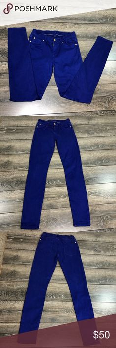 84cd5a7f197 7 For All Mankind royal blue jeans size 26 Royal blue jeans size 26 7 For  All Mankind. Measurements are estimated and not exact 7 For All Mankind  Jeans ...
