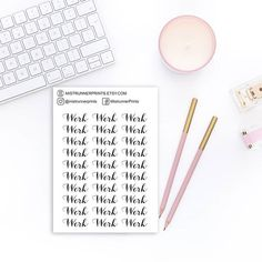 Hope everyone has a great day! Here's just one of many new scripts that arrived to shop today. They're perfect for any kind of planner. Check them out now! Mini Hands, Weekly Planner, Scripts, Have A Great Day, Planner Stickers, How To Draw Hands, Layout, Icons, Check