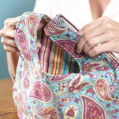 Quick, easy, practical and fun! Check out this great tutorial at http://www.allpeoplequilt.com/bags-pillows-gifts/bags-and-purses/grab-bags?page=0%2C0