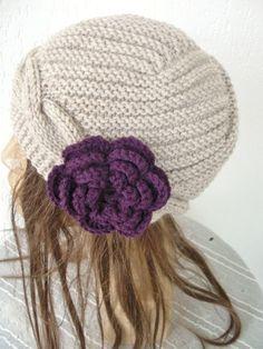 Hand Knit  Hat   Womens Hat   Cloche Hat  in Beige  by Ebruk, $40.00